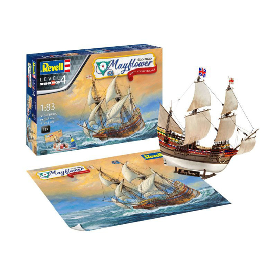 Poza cu Set cadou Revell Mayflower 400th Anniversary 1:83 5684