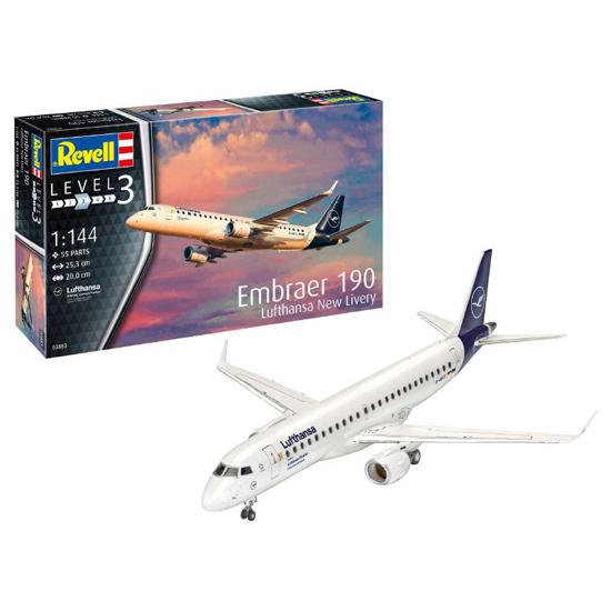 Poza cu Set model Revell Embraer 190 Lufthansa New Livery 63883