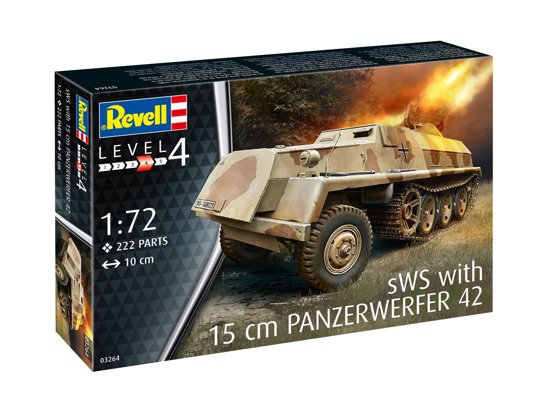 Снимка на Revell 15 cm Panzerwerfer 42 auf sWS 1:72 3264