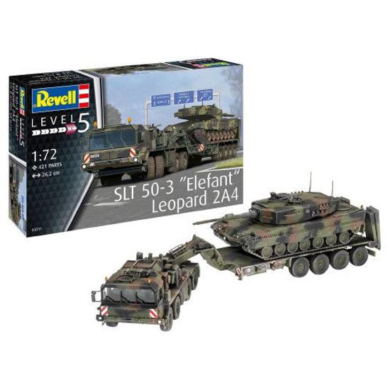 Снимка на 3311 Revell SLT 50 3 Elephant and Leopard 2A4 1:72 3311