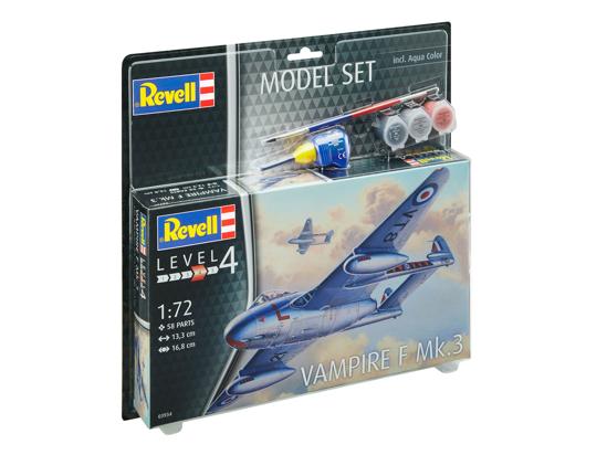 Снимка на Revell Model Set Vampire F Mk3 1:72 63934
