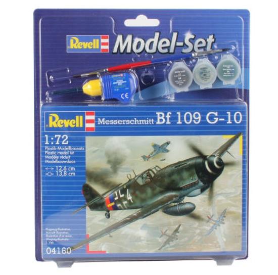 Poza cu Set model Revell Messerschmitt Bf 109 G 10 1:72 64160