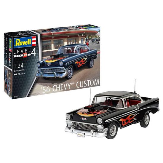 Снимка на Set model Revell 56 Chevy Customs 1:24 67663