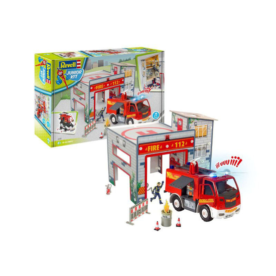 Снимка на Revell JUNIOR KIT Playset Camion de pompieri și pompieri 00852