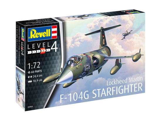 Poza cu Set model Revell F 104G Starfighter 1:72 63904
