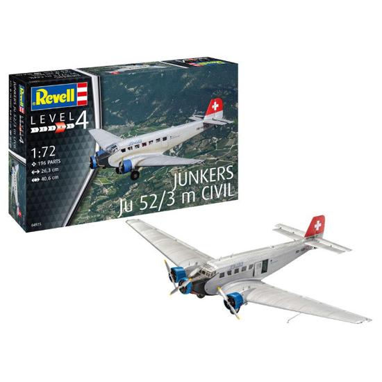 Poza cu Revell Junkers Ju52 / 3m Civil 1:72 4975
