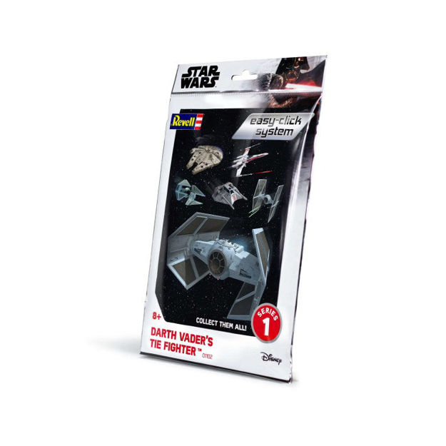 Снимка на Revell Star Wars Darth Vader TIE Fighter faceți clic ușor 1: 121 1102