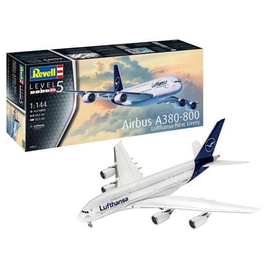 Снимка на Revell Airbus A380 800 Lufthansa New Livery 1: 144 3872