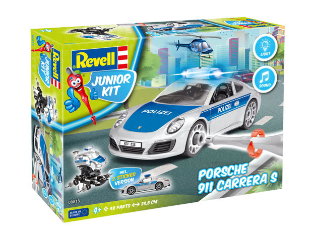 Poza cu Revell JUNIOR KIT Porsche 911 Police 1:20 0818