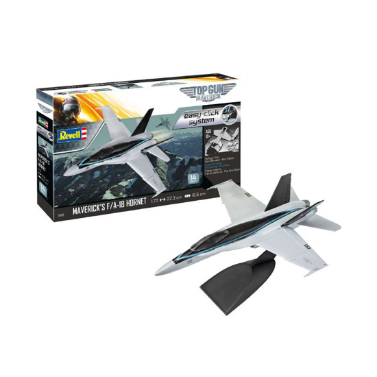 Снимка на Set model Revell Easy Click F / A 18 Hornet Top Gun 1:72 64965