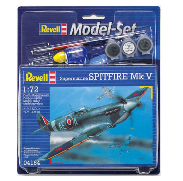 Poza cu Set model Revell Supermarine Spitfire MkV 1:72 64164