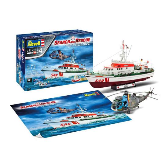 Poza cu Set cadou Revell Set SAR DGzRS Arkona and Westland Sea King Mk 41 1:72 5683