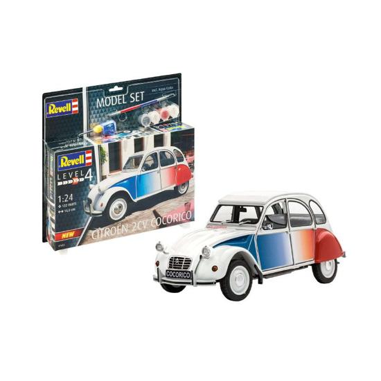 Poza cu Set model Revell Citroen 2 CV Coccorico 1:24 67653