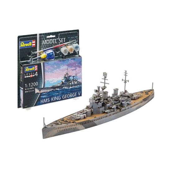 Poza cu Set model Revell HMS King George V 1: 1200 65161