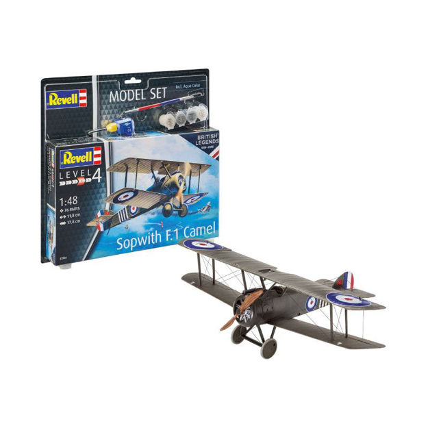 Poza cu Set model Revell British Legends Sopwith Camel 1:48 63906