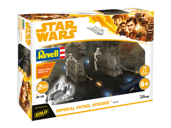 Снимка на Revell Build  and  Play Star Wars Imperial Patrol Speeder 6768 Solo