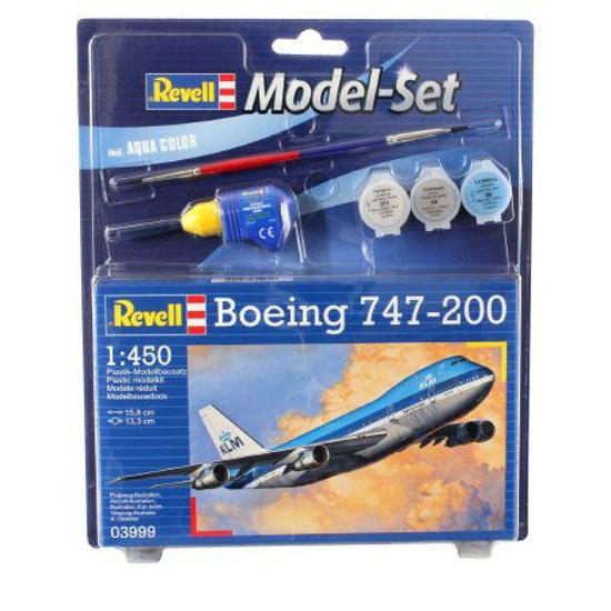 Снимка на Set model Revell Boeing 747 200 1: 450 63999