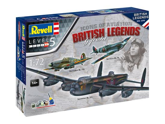 Снимка на Revell 100 Years RAF: Set cadou Flying Legends 1:72 5696