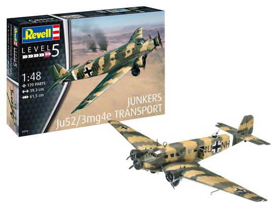 Poza cu Revell Junkers Ju52 / 3m Transport 1:48 3918