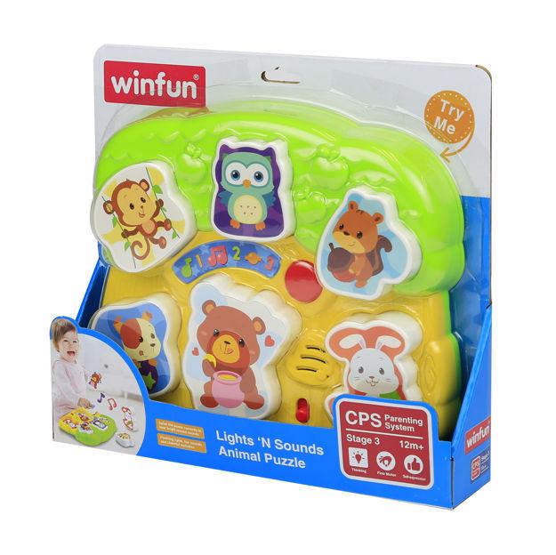 Poza cu Jucarie puzzle cu lumini si sunete pentru bebelusi, Winfun, 0771