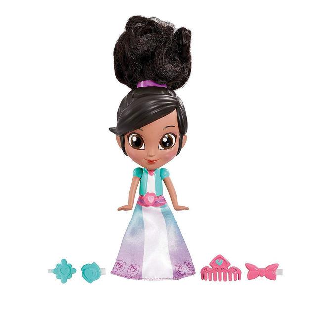 Poza cu Mini papusa Nickelodeon Nella printesa cavaler cu accesorii pentru par