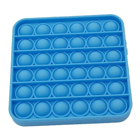 Снимка на Jucarie POP IT!, antistres, din silicon, patrat, albastru