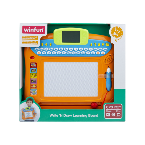 Снимка на Jucarie pentru copii, tablita de invatare, de scris si desenat, Winfun, 2258