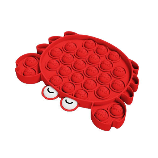 Снимка на Jucarie antistres din silicon, Pop it now, forma Crab, 13 cm,