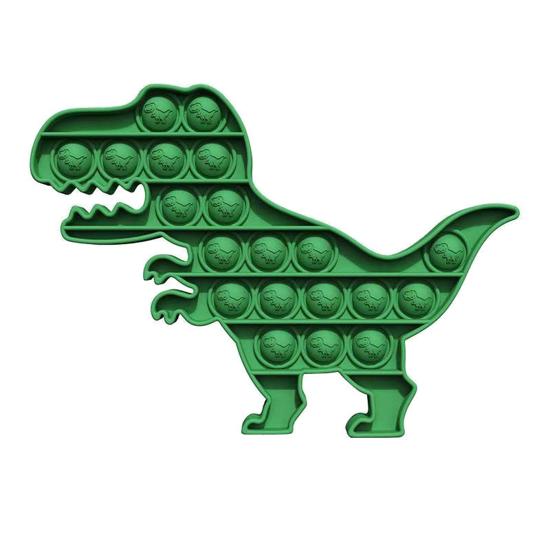 Poza cu Jucarie antistres din silicon,  Pop it now, forma dinozaur, verde, 20.4 x 14.8 x 1.5 cm