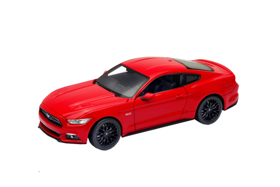 Poza cu Macheta auto 2015 Ford Mustang GT, rosu, 1:24 Welly, 24062w